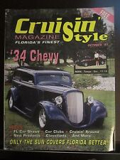Cruisin' Style Magazine October 1987 '34 Chevy Florida's Finest (D1)