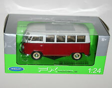Welly - VW Volkswagen Classical Bus (1962) Red - Die Cast Model Scale 1:24