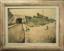 "Roger Bertin Oil Painting ""Train & Tunnel Landscape"" Beautiful & RARE! 1 of 3"