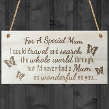 For A Special Mum Wooden Hanging Plaque Love Shabby Chic Mothers Day Gift Sign