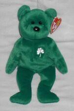 Ty Beanie Baby Babie - ERIN Green Irish Bear Clover Retired OOP RARE NWT