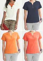 NWT Banana Republic New $69.50 Women Clip-Front Top Size PXS, XS, PS, S, PM, PL