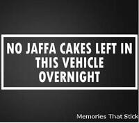 NO JAFFA CAKES Funny Car Window Bumper 4x4 Van JDM VW VAG Vinyl Decal Sticker