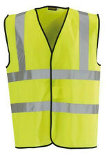 Blackrock Yellow Hi Vis High Viz Visibility Vest EN471 Waistcoat Safety (80300)