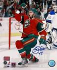 Guillaume Latendresse Minnesota Wild Signed Autographed Goal Celebration 8x10