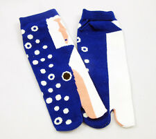 Ninja Japanese Cotton Tabi Socks BLUE WHALE Flip Flop Geta Geisha Unisex SENIOR