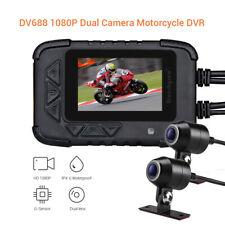 Dv688 Motorrad Action Dash Camera Dual HD Linse Vorne & Hinten Camcorder HD 1080p