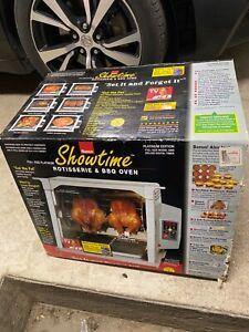 NEW SEALED Ronco Showtime 5000 Platinum Rotisserie BBQ Digital Timer Full Size