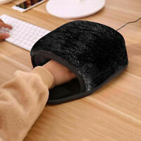 USB Heated Mouse Pad Mouse Hand Warmer with Wristguard Warm Winter Pink/Black