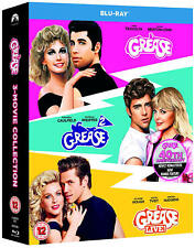 Grease, Grease 2, Grease Live 40th Anniversary 3-Movie Collection Bluray NEW