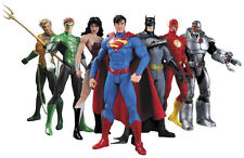 DC SUPER HEROES JUSTICE LEAGUE - Set de 7 PCS, Batman, Superman Flash figuras