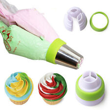 3-Color DIY Cute Icing Piping Bag Russian Nozzle Converter Coupler Cake Tool Kit