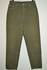vintage 90s LEVIS RED TAB OLIVE GREEN 550 JEANS WOMEN'S PANTS SZ 30 X 31