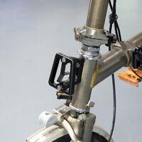 Folding Bike Front Carrier Block Bicycle Bag Bracket Rack Adapter Brompton Black