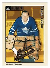 1997-98 Beehive Bee Hive Golden Originals Authentic Signature Auto Johnny Bower