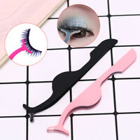 Stainless Steel Eyelashes Extension Tweezers Auxiliary Clamp Clips Eye Lash QP