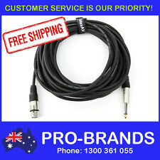 """10-Metre QUALITY XLR Female to Male 1/4"""" Microphone Link Cable Lead Cord PA 10M"""