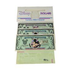 VINTAGE 1994/95 DISNEY DOLLARS MICKEY $1 ONE + $5 FIVE DOLLAR GOOFY DOLLARS