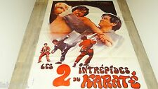 wang yu LES 2 INTREPIDES Shuang long chu hai  affiche cinema karate kung-fu 1973
