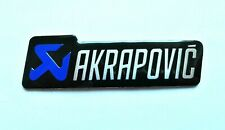 AKRAPOVIC 3D HEATPROOF BADGE LOGO STICKER GRAPHIC DECAL SUPERBIKE BLUE & BLACK