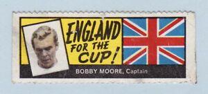 Football Sticker - World Cup Footballers (A. & B.C. Gum) - #Bobby Moore/England