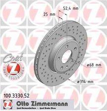 Disque de frein avant ZIMMERMANN PERCE 100.3330.52  AUDI A5 Sportback 8TA S5 qua