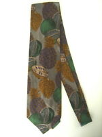 TRES BELLE CRAVATE KENZO SOIE MOTIF FRUIT EXOTIQUE NEUVE/NEW SILK TIE