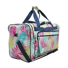"Canvas 20"" carry on airplane/duffle/gym/overnight bag NWT FREE SHIP Palm Tree"