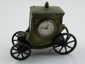 NOVELTY COLD PAINTED MINIATURE BRONZE CLOCK