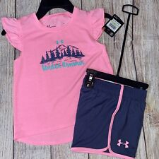 Under Armour 4 5 6 6x Mountains Outdoors Pink Athletic Set NEW