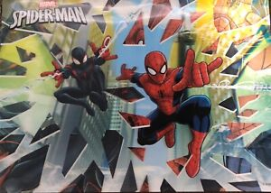 Kids Marvel Spiderman lithograph 27x19 No Frame In Good Used Condition Most Have