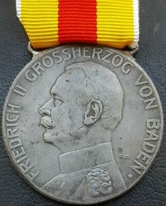 ✚9728✚ German WW1 Baden Silver Medal of Merit Silberne Verdienstmedaille