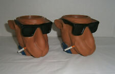 2 Vintage Joe Camel Plastic Buddies Cigarettes Tobacco Bottle Cup Holders 1991