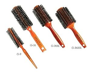 STOCKING STUFFERS Round Porcupine Boar Nylon Bristle Hair Brush -- FREE SHIPPING