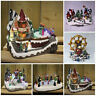 NEW Christmas Village Nativity Scene Ornament Xmas decoration LED Lights & Sound