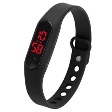 Fashion LED Womens Mens Date Sports Bracelet Watch Rubber Digital Wrist Wat M7r5