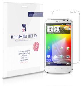 iLLumiShield Phone Screen Protector w Anti-Bubble/Print 3x for HTC Sensation XL