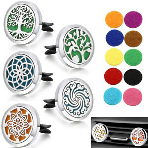 Car Essential Oil Diffuser Vent Clip Air Freshener Aromatherapy Locket