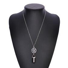 Imitation Quartz Crystal Stone Point Chakra Healing Gemstone Pendant Necklace