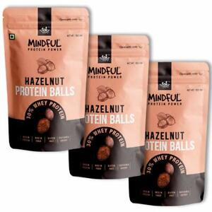 EAT Anytime Mindful Hazelnut Protein Energy Balls, 30% Whey Protein Snack, Pack