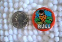 1972 BULL Best Seal Vintage Cartoon Pin Pinback Button #24191