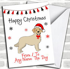Golden Retriever From Or To The Dog Pet Personalised Christmas Card