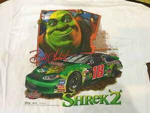 Vintage NASCAR Shirt Shrek2 Bobby Labonte InterstateRacing  Shirt New NOS Large