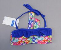 Fin Fun Girl's Removable Strap Bandeau Bikini Top SH3 Rainbow Multi Size XS NWT