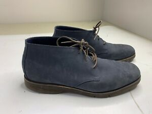 Cole Haan Grand.OS Mens Round Toe Lace Up Chukka Boots Shoes Suede Blue 12 M
