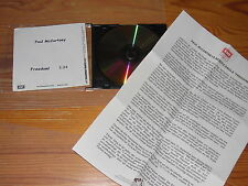 Paul McCartney-Freedom/1 track MAXI-CD 2001 & Info-Facts (din-a-4)