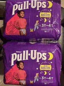 Huggies Pull-Ups Nighttime Training Pants - - 3T-4T- Lot of two 18 ct packs