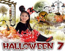 H7 Halloween Digital White Backgrounds Backdrops Children Holiday Kid Baby Phott
