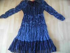 EDC by ESPRIT tolles blau gemustertes Kleid Crashoptik Gr. 32 416