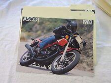 NOS Honda 1983 ASCOT FT500  DEALER SALES BROCHURE